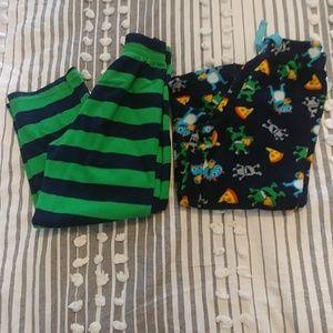 Boys size 8 fluffy pajama bottoms/pants